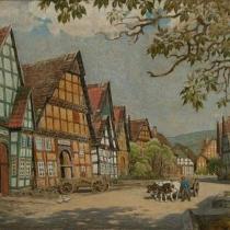 Friedrich Eicke: Markt in Schwalenberg, um 1925