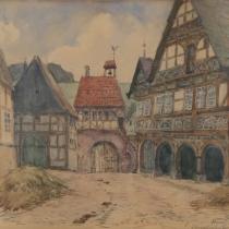 Hans Bruch: Schwalenberger Glockenhaus um 1600, 1910