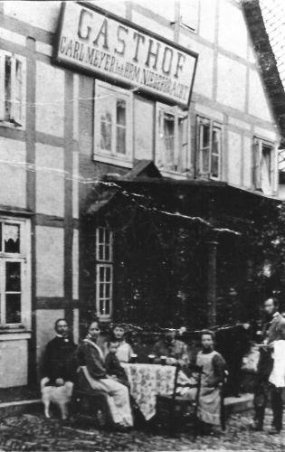 Der Gasthof Meyer um 1909