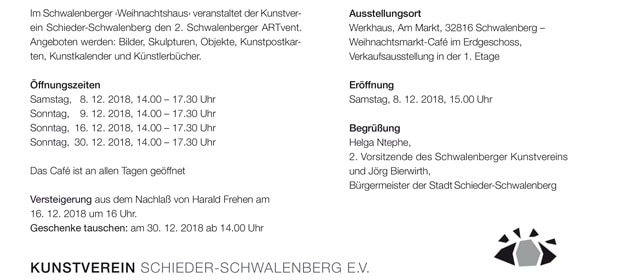 Einladung ARTvent 2018