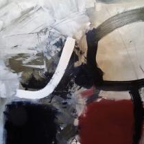 Christel Brill . O.T 1998 .  Acryl auf Leinwand . 120 x 100 cm