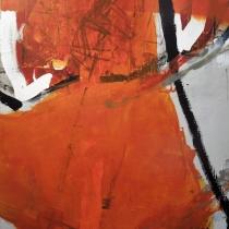 Christel Brill . O.T.  2001 . Acryl auf Leinwand . 100 x 80 cm