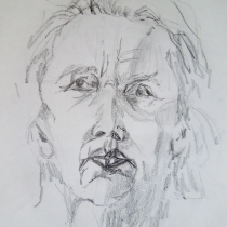Christel Brill . portraet . 2000 . Bleistift . 50 x 38 cm