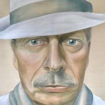 Meike Lothmann . Wenn Opa ein Dandy wär . 2019 . 120 x 100 cm . Acryl a. Leinwand