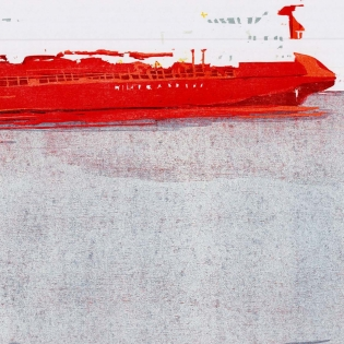 Anastasiya Nesterova: Agat, 2019 . Farbholzschnitt . 70 x 100 cm © VG-Bild-Kunst, Bonn 2020